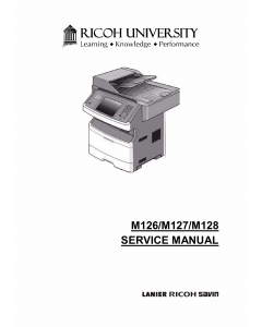 RICOH Aficio SF-4410SF M126 M127 M128 Service Manual