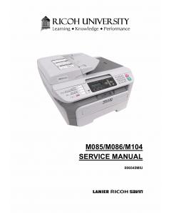 RICOH Aficio SP-1200SF 1200S 1200SU M085 M086 M104 Service Manual