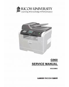 RICOH Aficio SP-3200SF G960 Parts Service Manual