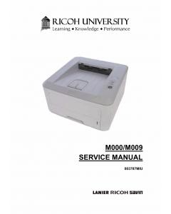 RICOH Aficio SP-3300DN 3300D M000 M009 Parts Manual