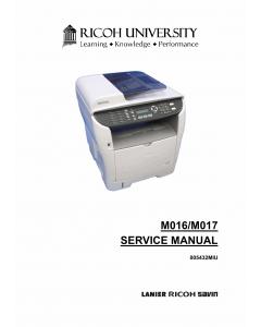 RICOH Aficio SP-3400SF 3410SF M016 M017 Parts Service Manual