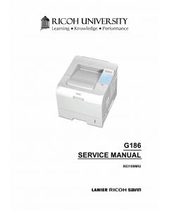 RICOH Aficio SP-5100N G186 Parts Service Manual
