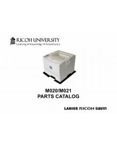 RICOH Aficio SP-5200DN 5210DN M020 M021 Parts Catalog