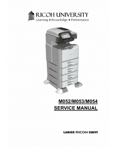 RICOH Aficio SP-5200S 5210SF 5210SR Service Manual