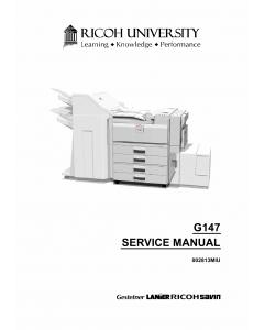 RICOH Aficio SP-8100DN G147 Parts Service Manual