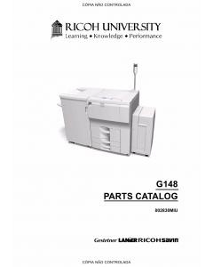 RICOH Aficio SP-9100DN AP900 G126 G148 Parts Catalog