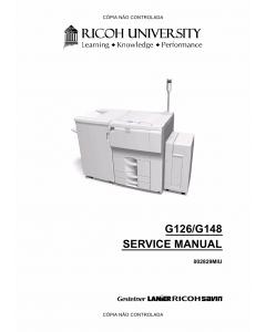 RICOH Aficio SP-9100DN AP900 G126 G148 Service Manual