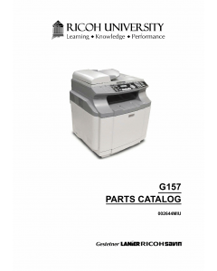 RICOH Aficio SP-C210SF G157 Parts Catalog