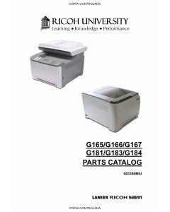 RICOH Aficio SP-C220N C221N C222DN C220S C221SF C222SF G165 G166 G167 G181 G183 G184 Parts Catalog