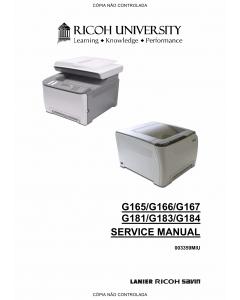 RICOH Aficio SP-C220N C221N C222DN C220S C221SF C222SF G165 G166 G167 G181 G183 G184 Service Manual