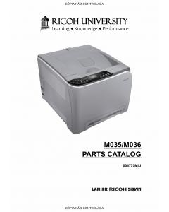 RICOH Aficio SP-C231N C232DN M035 M036 Parts Catalog