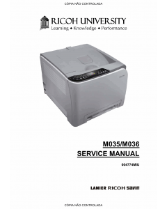 RICOH Aficio SP-C231N C232DN M035 M036 Service Manual
