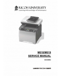 RICOH Aficio SP-C231SF C232SF M018 M019 Service Manual
