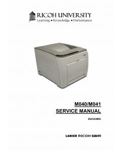 RICOH Aficio SP-C311N C312DN M040 M041 Parts Service Manual