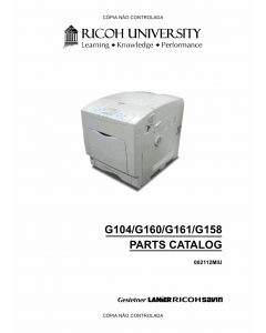 RICOH Aficio SP-C410DN C411DN C400DN CL4000DN G104 G160 G161 G158 Parts Catalog