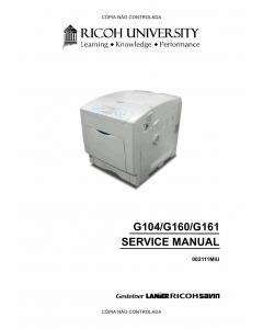 RICOH Aficio SP-C410DN C411DN CL4000DN G104 G160 G161 Service Manual