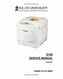 RICOH Aficio SP-C420DN G190 Service Manual