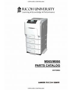 RICOH Aficio SP-C430DN C431DN M065 M066 Parts Catalog