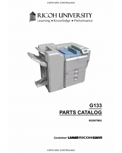 RICOH Aficio SP-C811DN G133 Parts Catalog