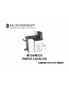RICOH Aficio SP-C830DN C831DN M124 M125 Parts Catalog