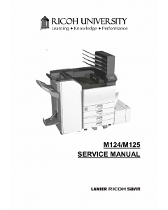 RICOH Aficio SP-C830DN C831DN M124 M125 Service Manual