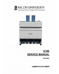 RICOH Aficio SP-W2470 G180 Parts Service Manual