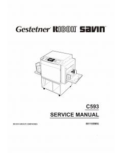 RICOH Aficio TC-II C593 Service Manual