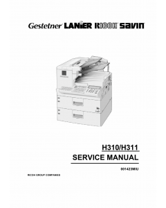 RICOH Fax 5510L 5510nf H310 H311 Service Manual