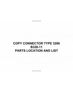 RICOH Options B328-11 COPY-CONNECTOR-TYPE-3260 Parts Catalog PDF download