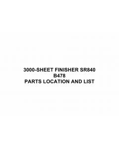 RICOH Options B478 3000-SHEET-FINISHER-SR840 Parts Catalog PDF download
