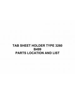 RICOH Options B499 TAB-SHEET-HOLDER-TYPE-3260 Parts Catalog PDF download