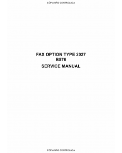 RICOH Options B576 FAX-OPTION-TYPE-2027 Service Manual PDF download
