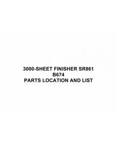 RICOH Options B674 3000-SHEET-FINISHER-SR861 Parts Catalog PDF download