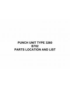 RICOH Options B702 PUNCH-UNIT-TYPE-3260 Parts Catalog PDF download