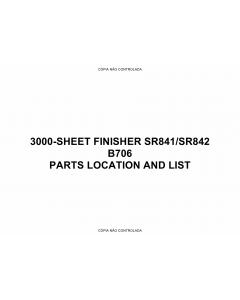 RICOH Options B706 3000-SHEET-FINISHER Parts Catalog PDF download
