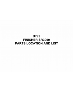 RICOH Options B792 FINISHER-SR3000 Parts Catalog PDF download