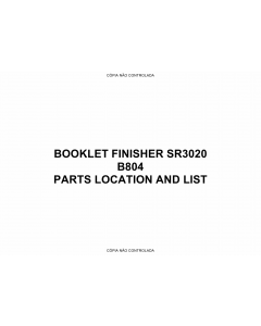 RICOH Options B804 BOOKLET-FINISHER-SR3020 Parts Catalog PDF download
