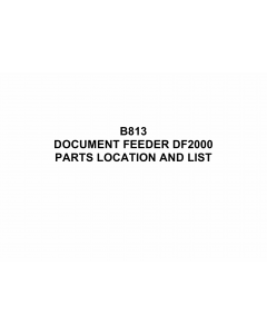 RICOH Options B813 DOCUMENT-FEEDER-DF2000 Parts Catalog PDF download