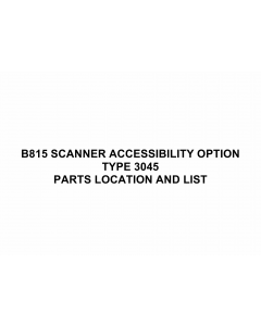 RICOH Options B815 SCANNER-ACCESSIBILITY-OPTION-TYPE-3045 Parts Catalog PDF download