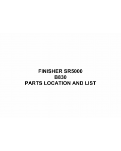 RICOH Options B830 FINISHER-SR5000 Parts Catalog PDF download
