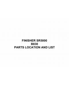 RICOH Options B830 FINISHER-SR5000 Parts Catalog PDF download