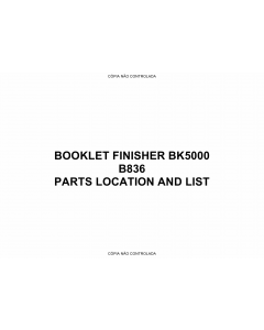 RICOH Options B836 BOOKLET-FINISHER-BK5000 Parts Catalog PDF download