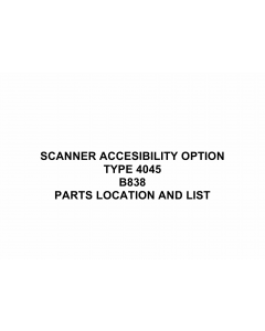 RICOH Options B838 SCANNER-ACCESIBILITY-OPTION-TYPE-4045 Parts Catalog PDF download