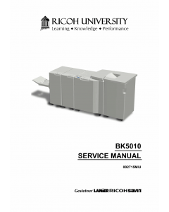 RICOH Options BK5010 Booklet-Maker Service Manual PDF download