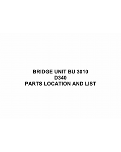 RICOH Options D340 BRIDGE-UNIT-BU-3010 Parts Catalog PDF download