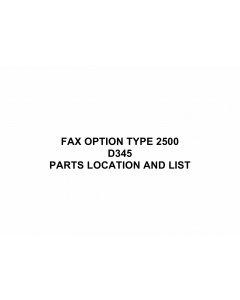 RICOH Options D345 FAX-OPTION-TYPE 2500 Parts Catalog PDF download