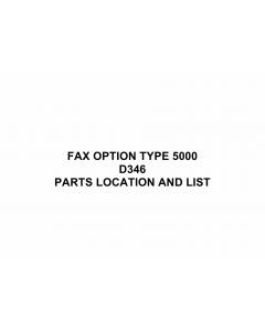 RICOH Options D346 FAX-OPTION-TYPE 5000 Parts Catalog PDF download