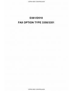 RICOH Options D361 D510 G578 FAX-OPTION-TYPE-3350-3351 Service Manual PDF download