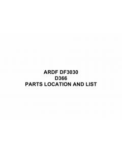 RICOH Options D366 DF3030 Parts Catalog PDF download