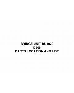 RICOH Options D368 BRIDGE-UNIT-BU3020 Parts Catalog PDF download
